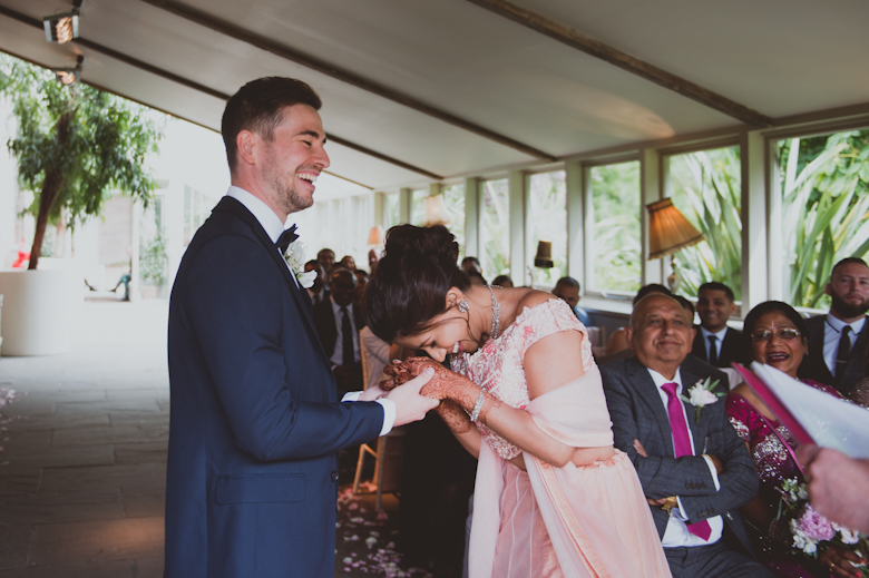 ceremony laughter Asian Wedding Photography