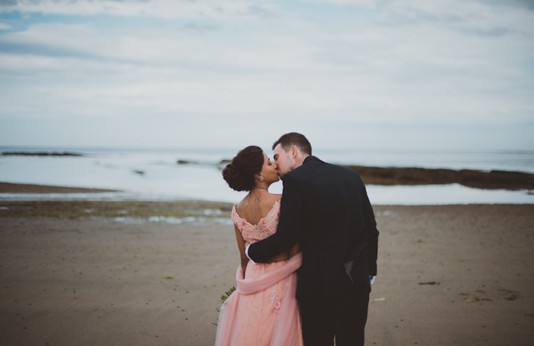 kiss on the beach, Western Asian Wedding Photography - kent wedding photography