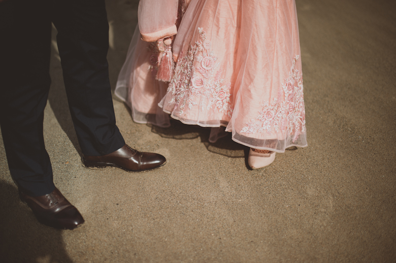 shoes on the beach - Western Asian Wedding Photography - alternative wedding photographer