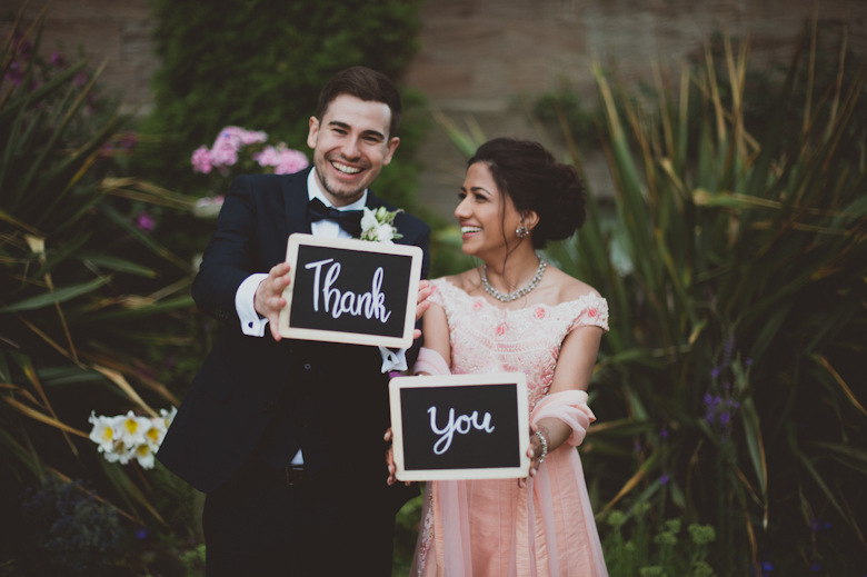 thank you bride and groom laughing - kent wedding photography - Western Asian Wedding Photography - natural wedding