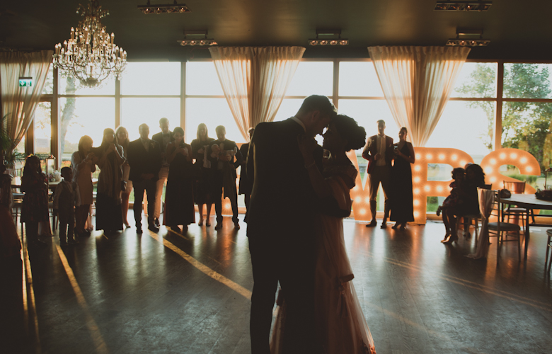 sunset first dance Western Asian Wedding Photography