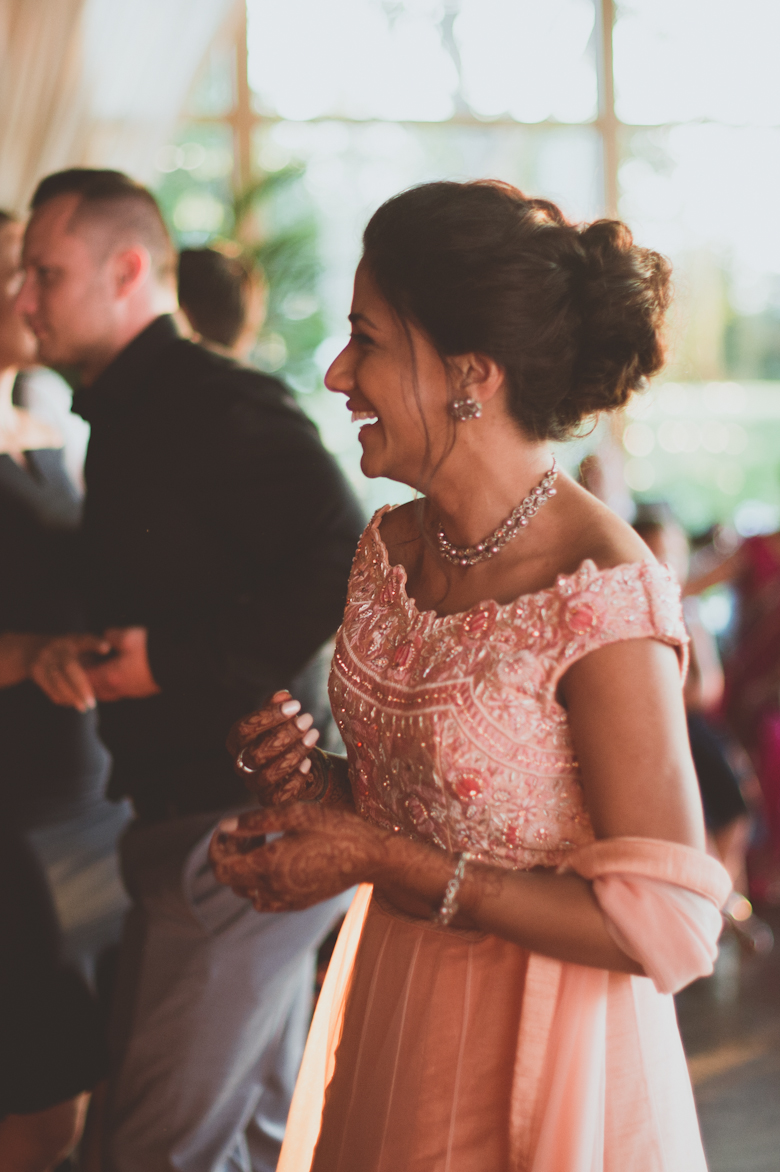 bride laughing Western Asian Wedding Photography