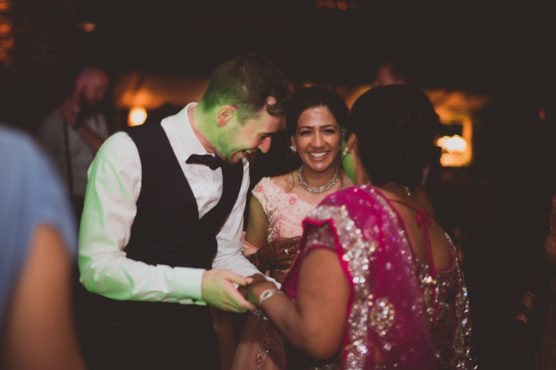 dancing shot - Northumberland wedding - Coastal wedding photography, candid wedding photography - Asian Wedding Photography