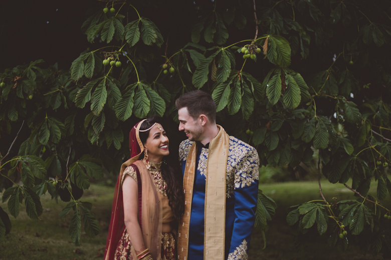 Western Asian Wedding Photography - bride and groom laughing