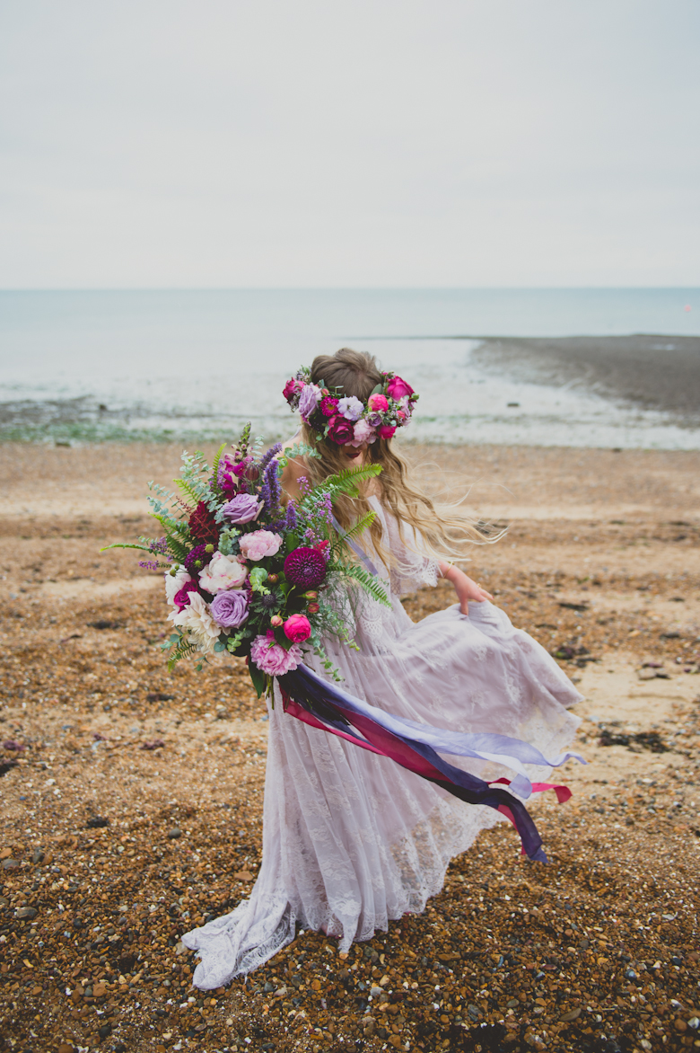 festival bride - Whitstable - Coastal Wedding East Quay Wedding