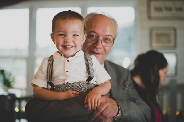 boy and grandad Easy Quay wedding venue - Whitstable