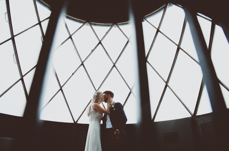 Trinity Buoy Wharf wedding rainy day lighthouse