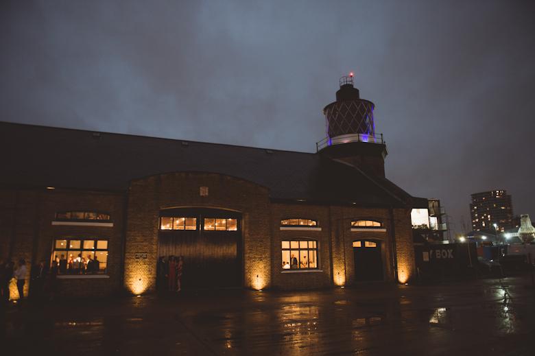 Trinity Buoy Wharf at night