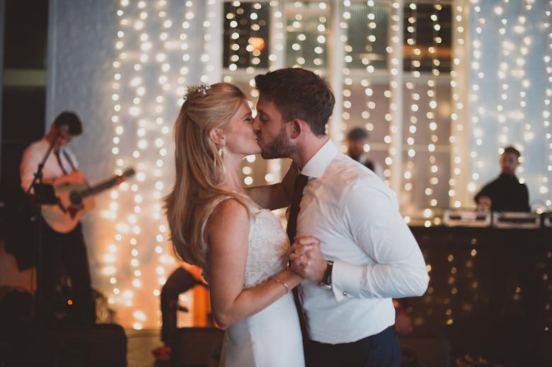 First dance Trinity Buoy Wharf kiss