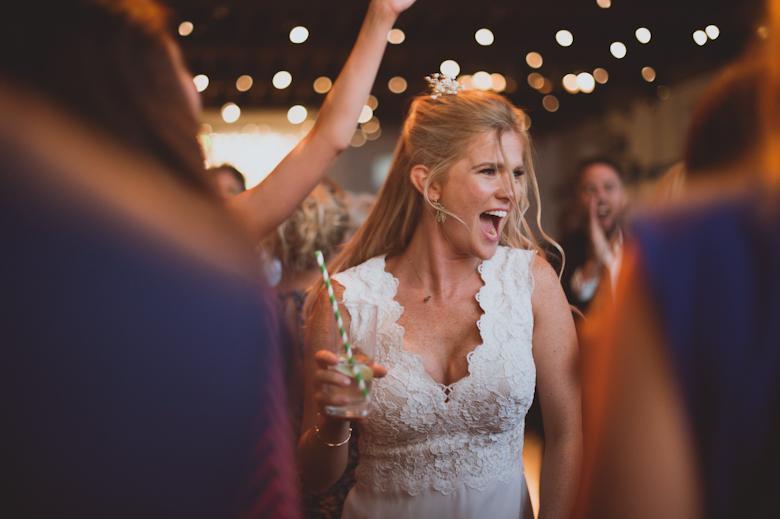 fun party dancing bride