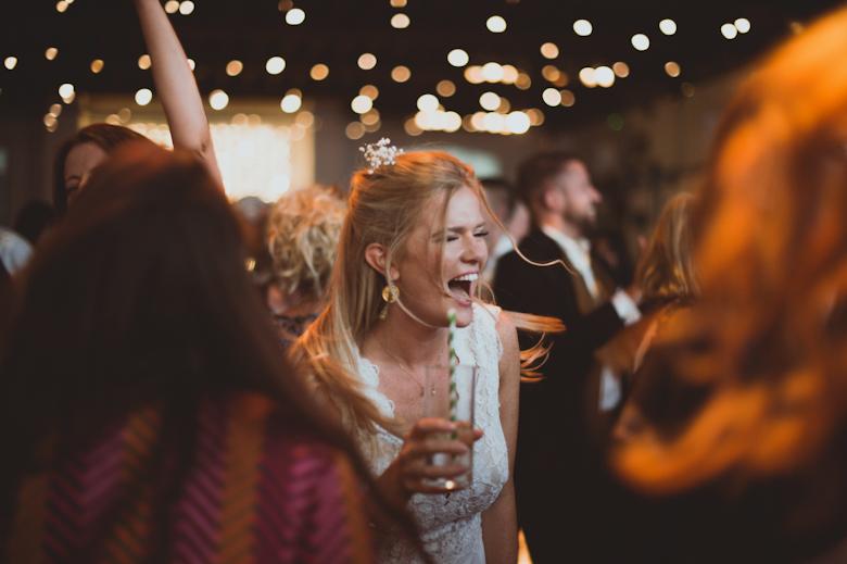 fun party dancing bridethe trinity buoy wharf wedding