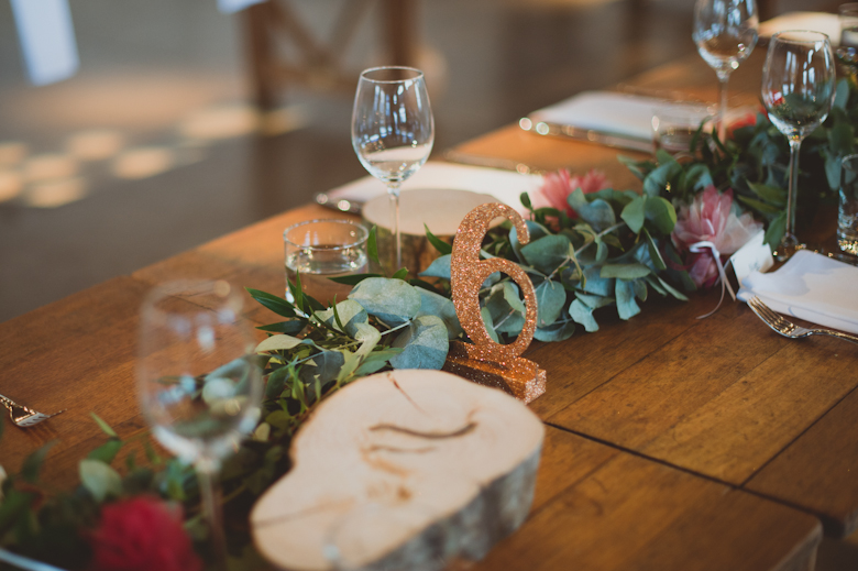 industrial wedding table decor
