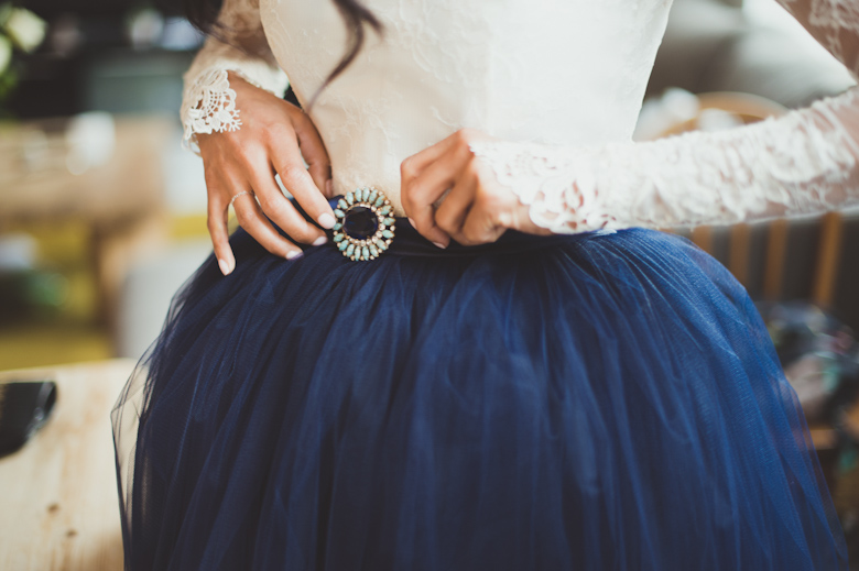 Asylum Chapel Wedding Photographer London - blue wedding dress - London photographer - Sasha Weddings