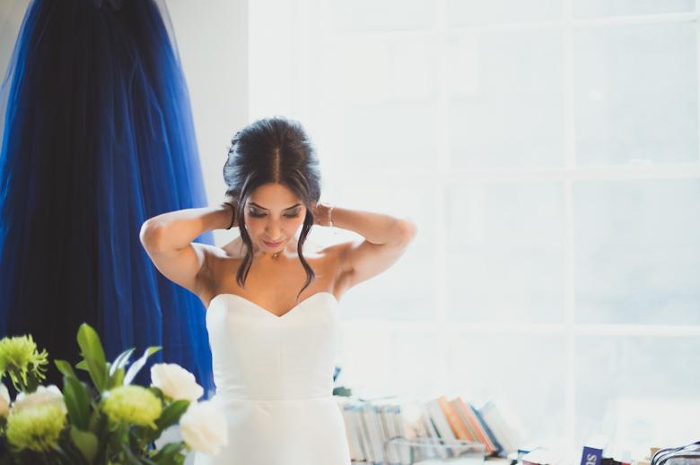 Bride getting ready - Asylum Chapel Wedding Photographer London