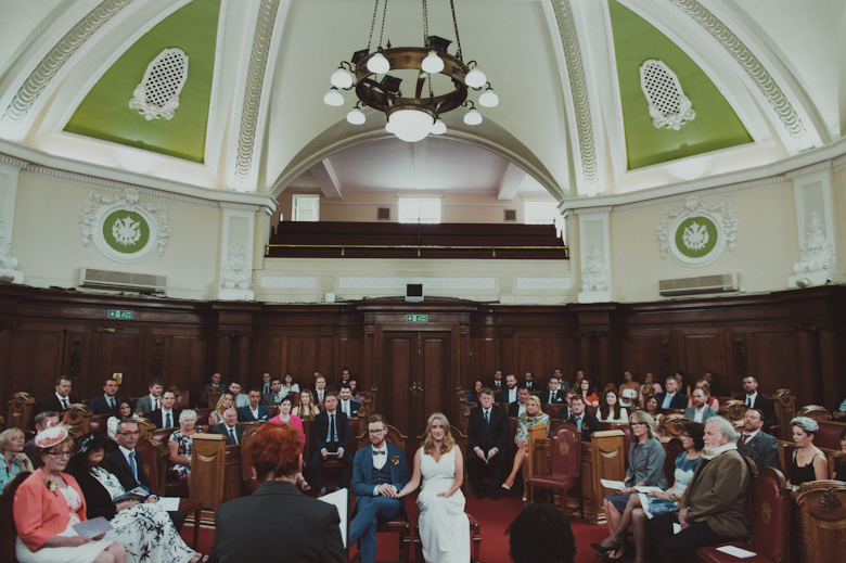 Bethnal Green town hall - East London wedding venue - ceremony