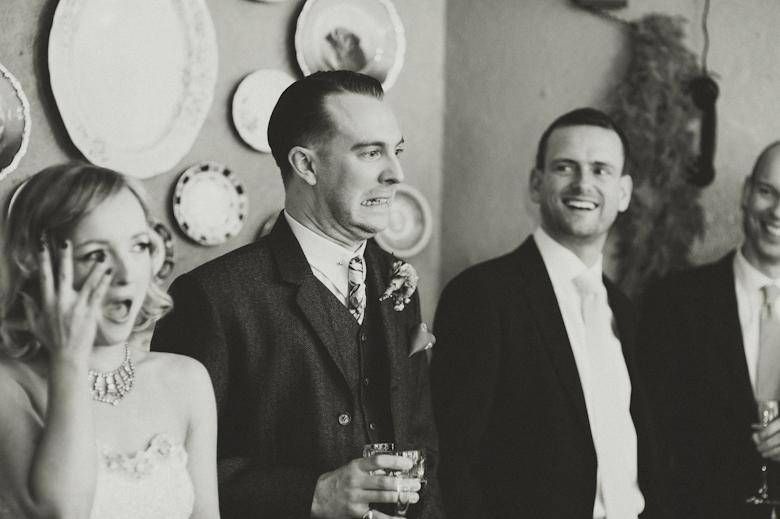 groom horrified