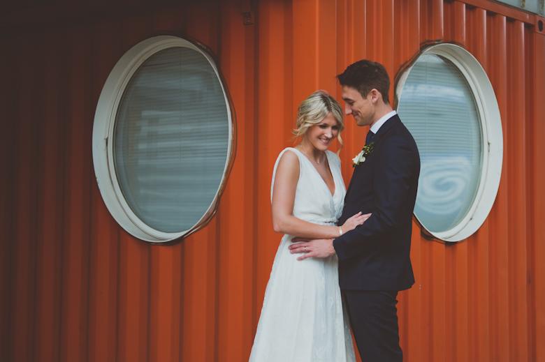 bride and groom romantic shot