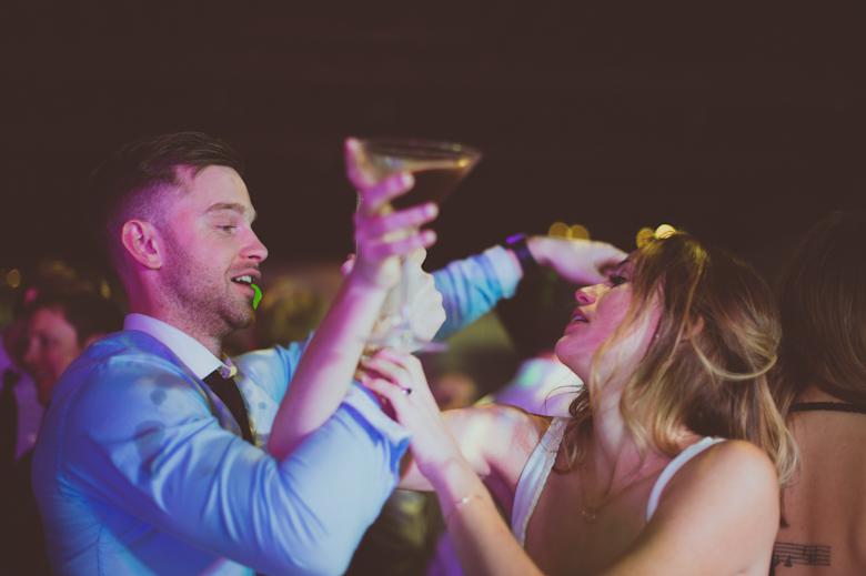 fun on the dance floor wedding