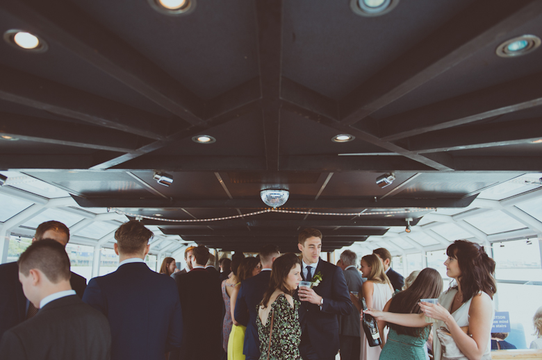 on the boat wedding