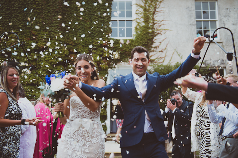 festival confetti - Festival Wedding, outdoor festival wedding, Knighton House, Dorset