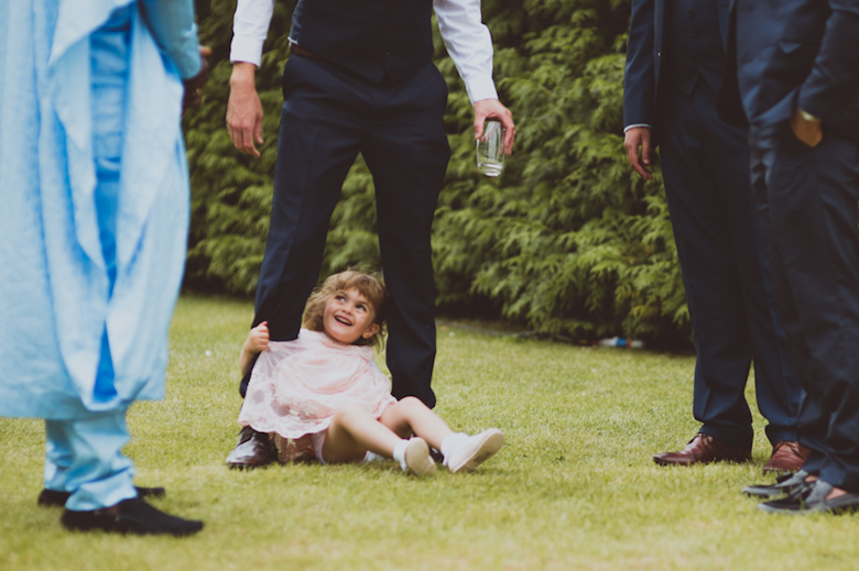 , Festival Wedding little girl laughing