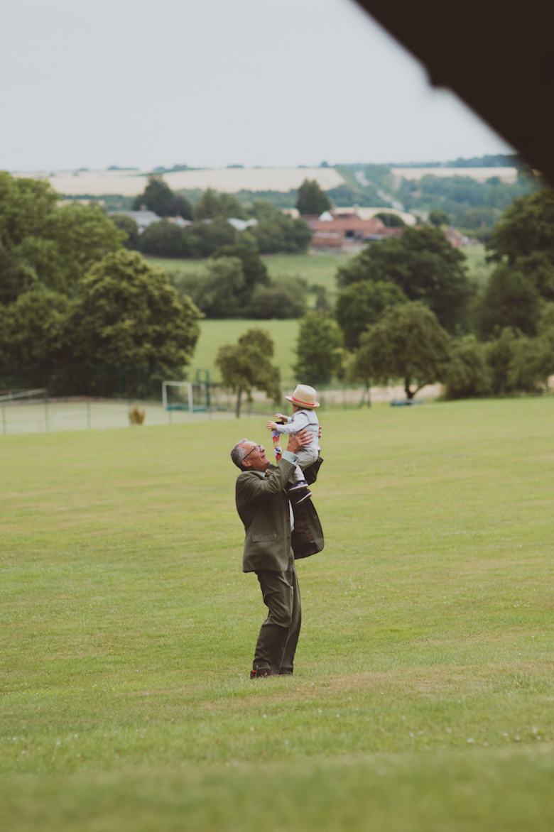 grandad and grandchild, Festival Wedding