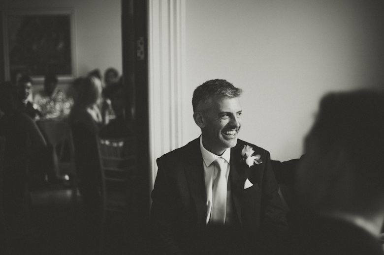 father of the bride laughing - Festival Wedding