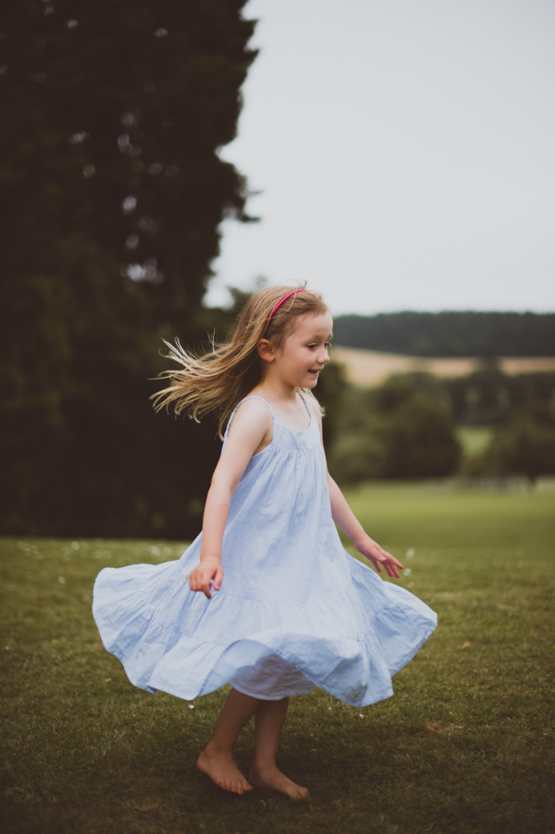 little girl dancing - Festival Wedding