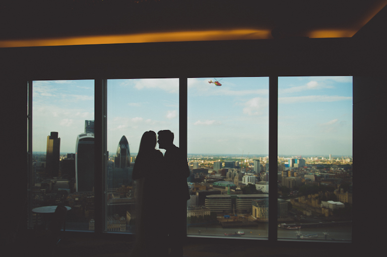 wedding at the Shard London
