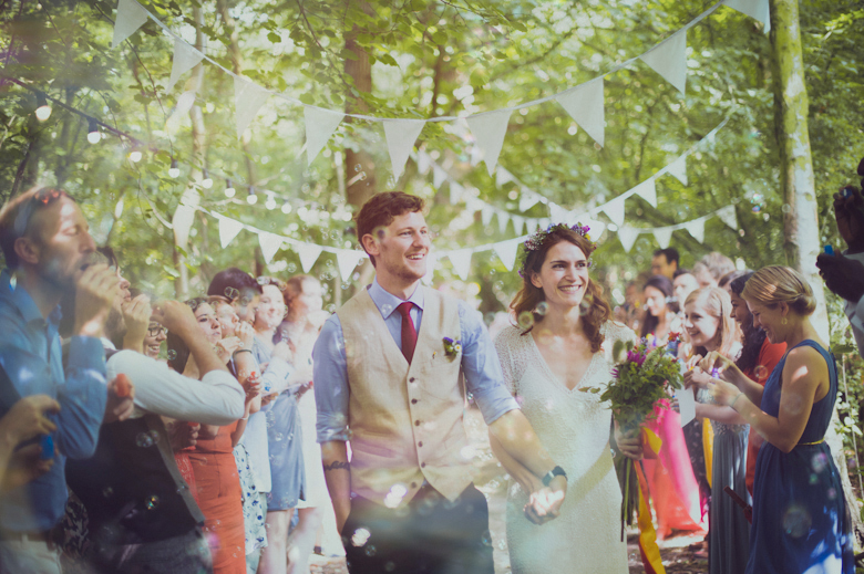 woodland wedding - bubbles