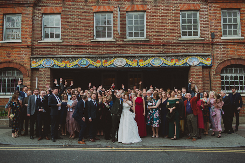 Group shot - Core Clapton London - wedding venue