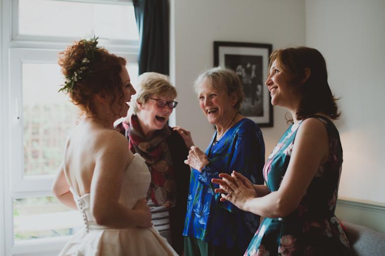 bride, mum and friends