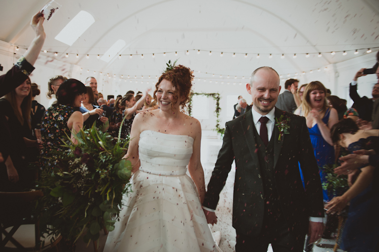 confetti shot Core Clapton, East London wedding photographer - natural wedding photography UK