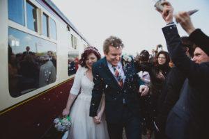 Railway wedding photography buckinghamshire
