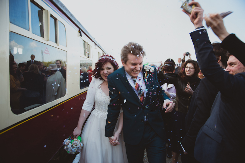 Railway wedding photography buckinghamshire