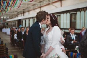 the kiss at the ceremony
