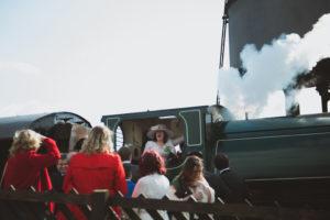 Guests having fun on the train - Buckingham Railway Centre