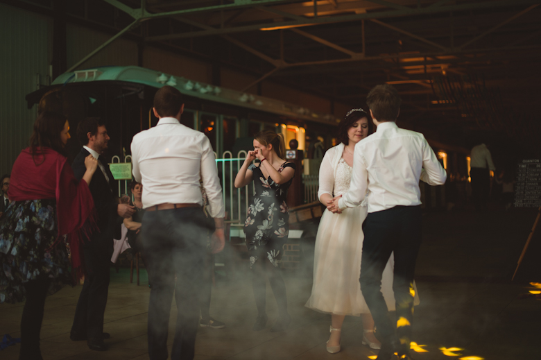 guest dancing - Buckinghamshire Railway venue