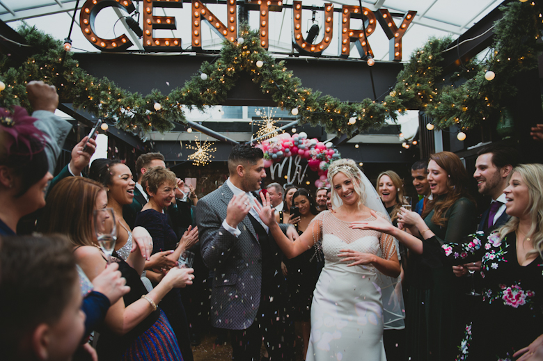 century club soho wedding confetti