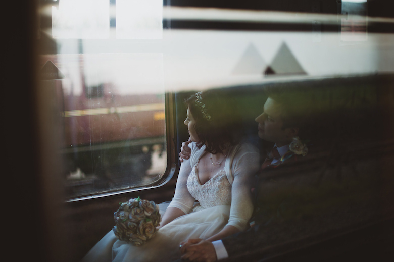Buckinghamshire Railway Centre Wedding - Candid wedding photography - alternative wedding photographer