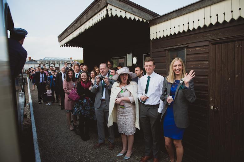 Candid Wedding Photography - Buckinghamshire Railway Centre Wedding