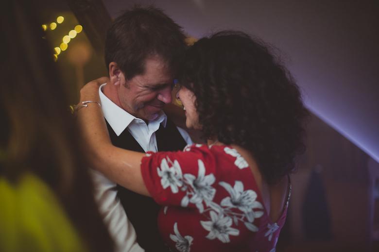Candid wedding photography - romantic dance