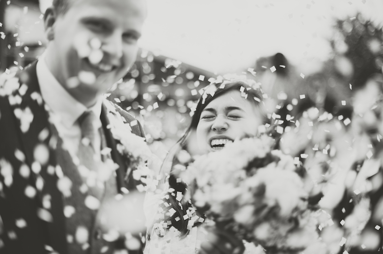 Confetti fun shot, Candid Wedding Photography