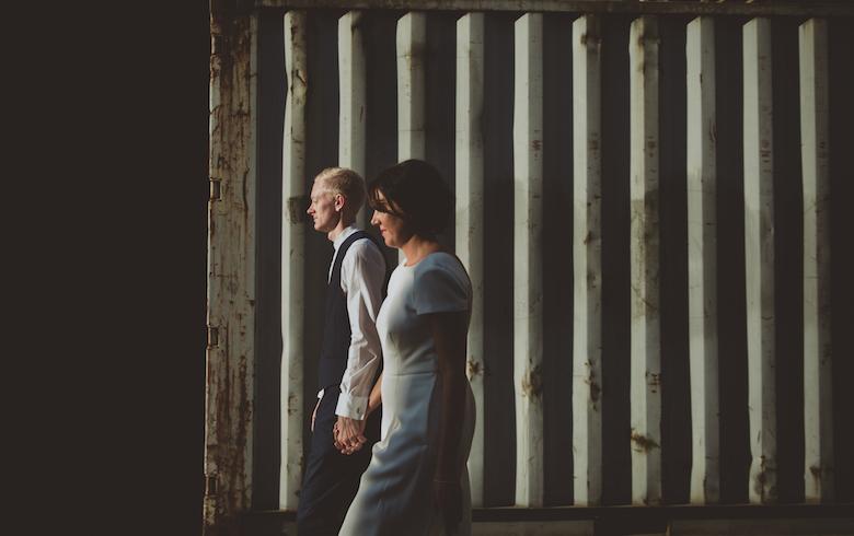Candid wedding photography - Trinity Buoy Wharf Wedding