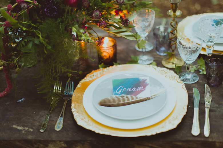 Table decor - festival Styled Shoot