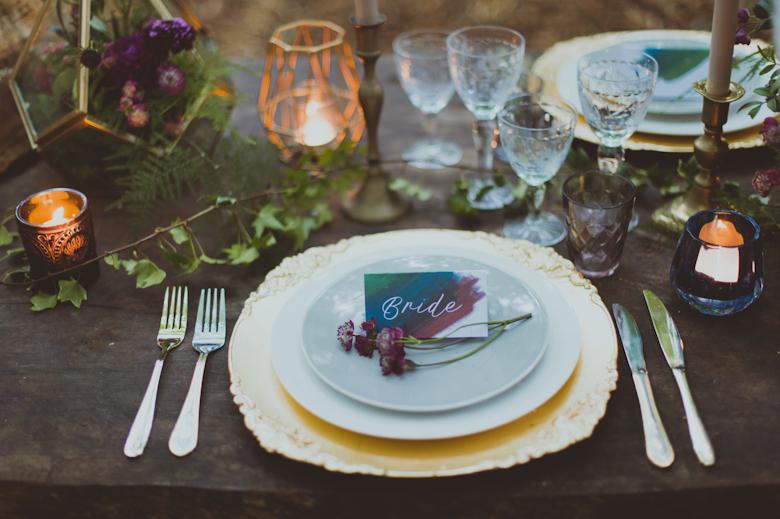 Table decor Festival Wedding Hertfordshire
