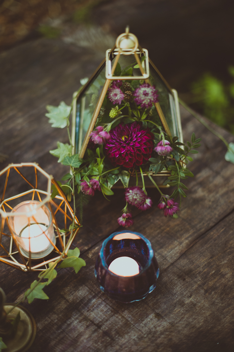 Table Decor - Festival Wedding Hertfordshire - Styled Shoot