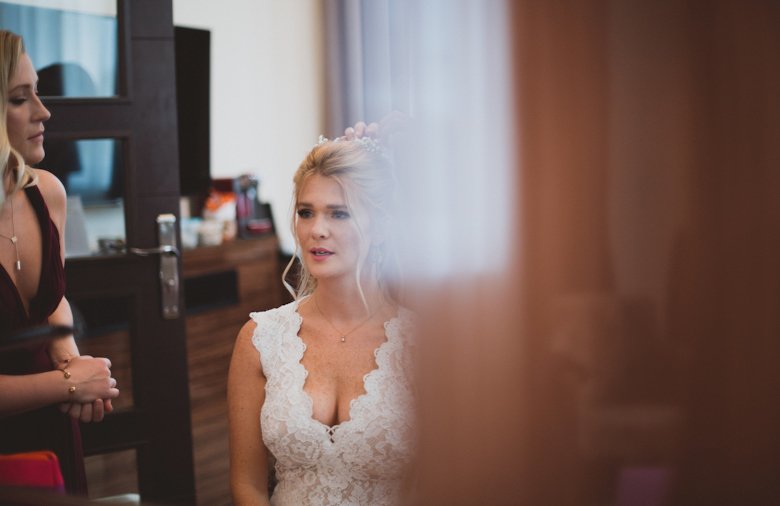 Bride getting ready - London Wedding Photographer
