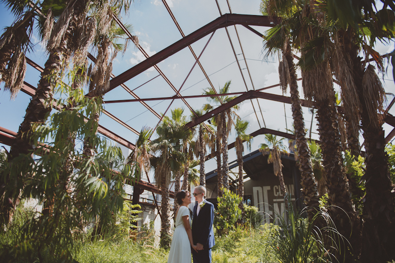 palm trees industrial tropical wedding, Creative Wedding Photography