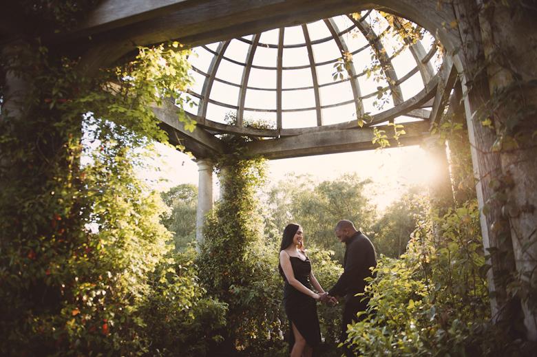 Engagement Shoot London Hampstead Heath Pargola Hill Gardens